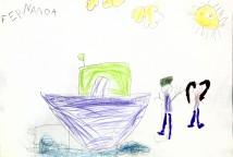 """O projeto se desenvolveu a partir da leitura coletiva do livro de Sonia Rosa, """"O menino Nito"""", que inspirou nas crianças o desejo de criar e desenhar sua própria estória."""