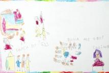 DANÇA POPULAR é a tradução das crianças em 31 desenhos sobre as manifestações da cultura popular: dança de reis; quadrilha; bumba meu boi, samba; carimbó e frevo que elas vivenciaram os ritmos, as músicas, as danças e suas histórias.