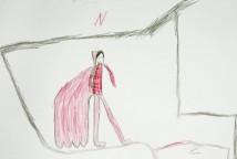 """MEDO foi realizada a partir da leitura do poema """"Medo e Coragem"""", do livro """"Poesia que transforma"""", de Bráulio Bessa. As crianças em roda expressaram seus medos, contaram com a escuta sensível e afetiva do grupo e da educadora, e criaram desenhos para expressá-los."""